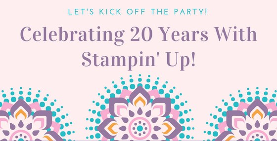 20 years with stampin' up!